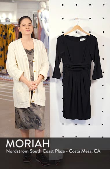 Bell Sleeve Knit Sheath Dress, sales video thumbnail