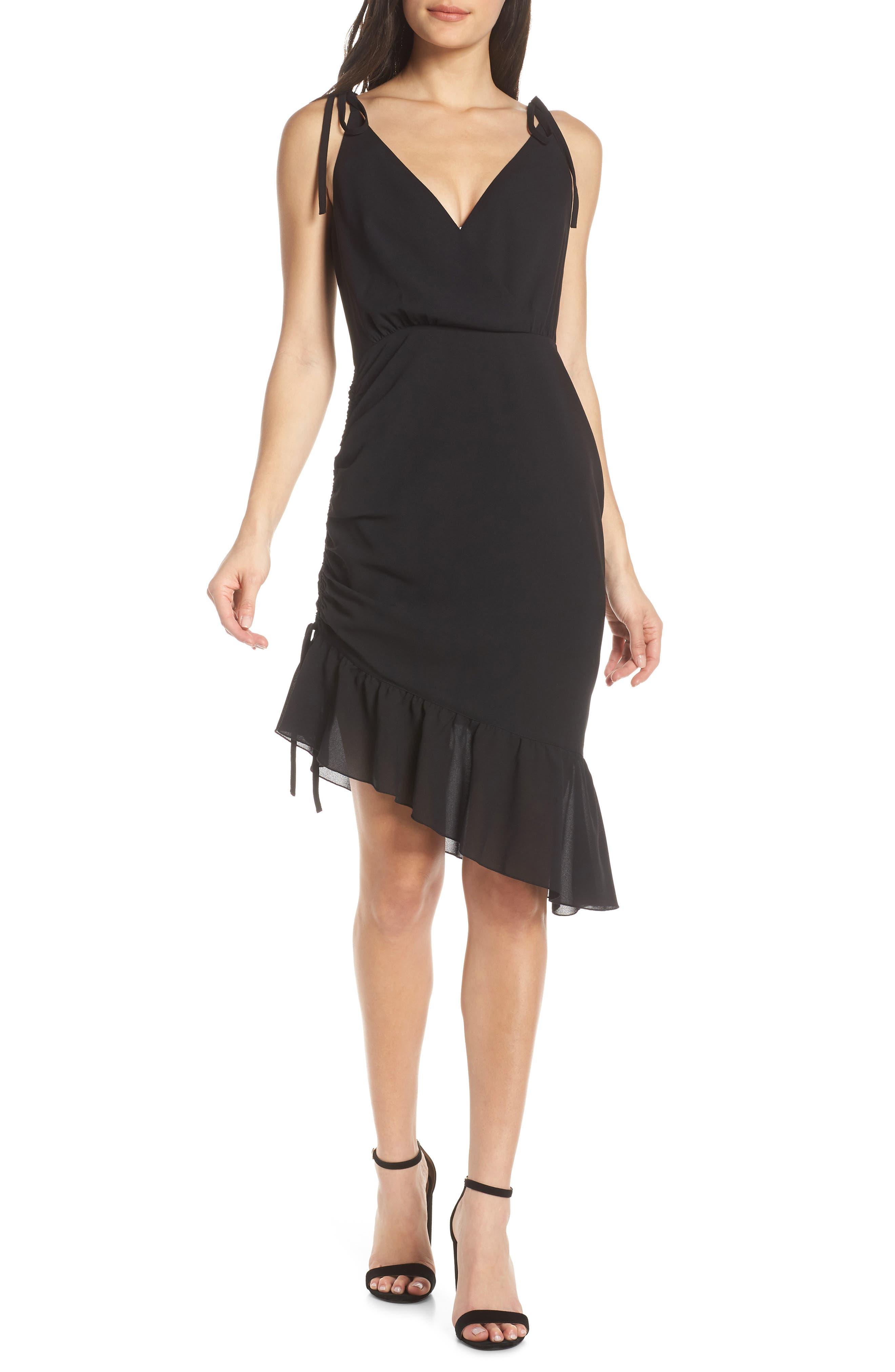Ali & Jay Spicy Mami Ruffle Dress, Black