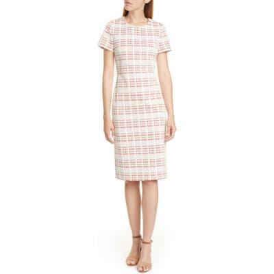 Boss Decka Cotton Blend Tweed Dress, Ivory