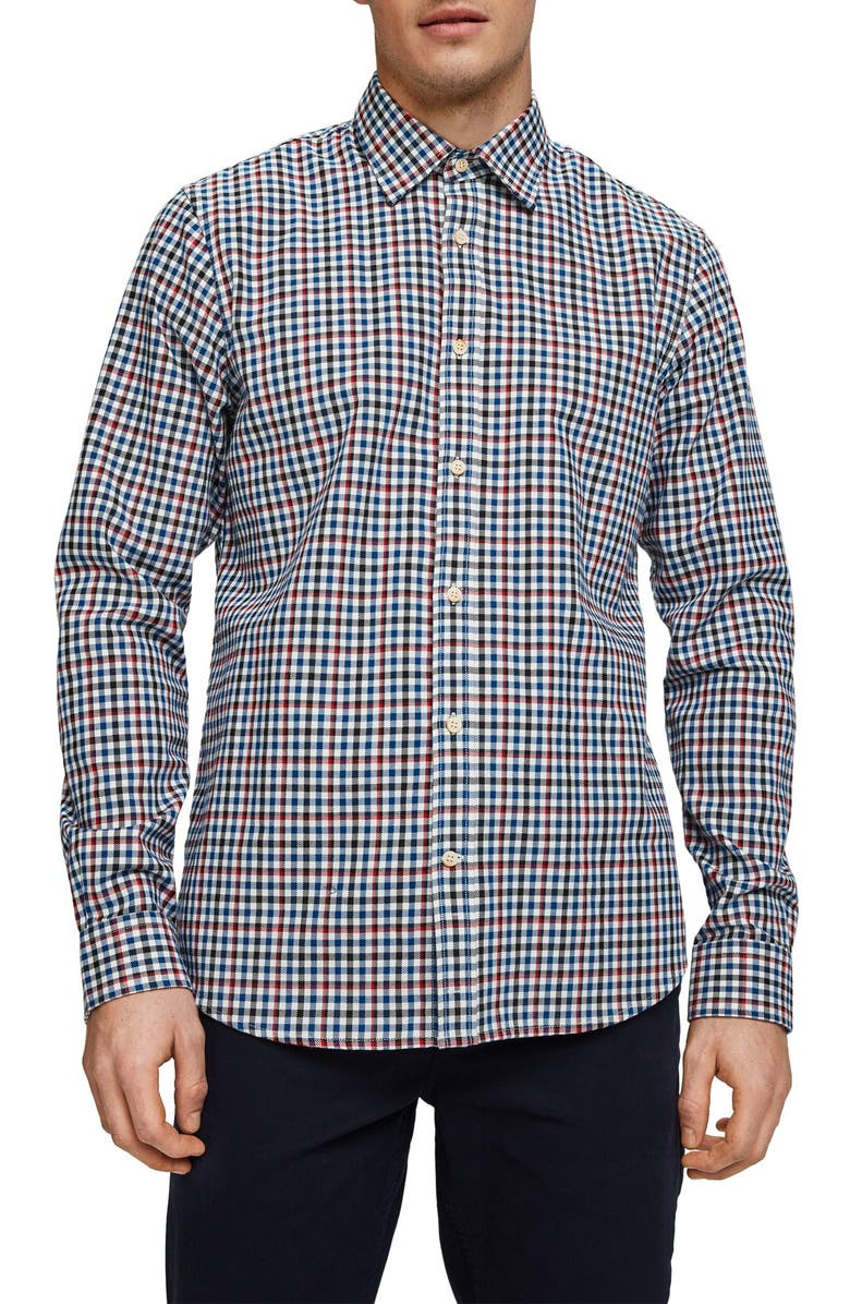 SCOTCH & SODA Worker Slim Fit Plaid Button-Up Shirt, Main, color, BLUE MULTI