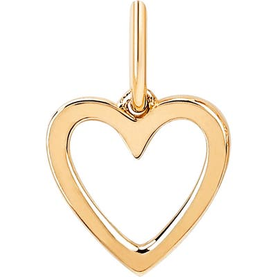 Ef Collection Gold Open Heart Pendant Charm
