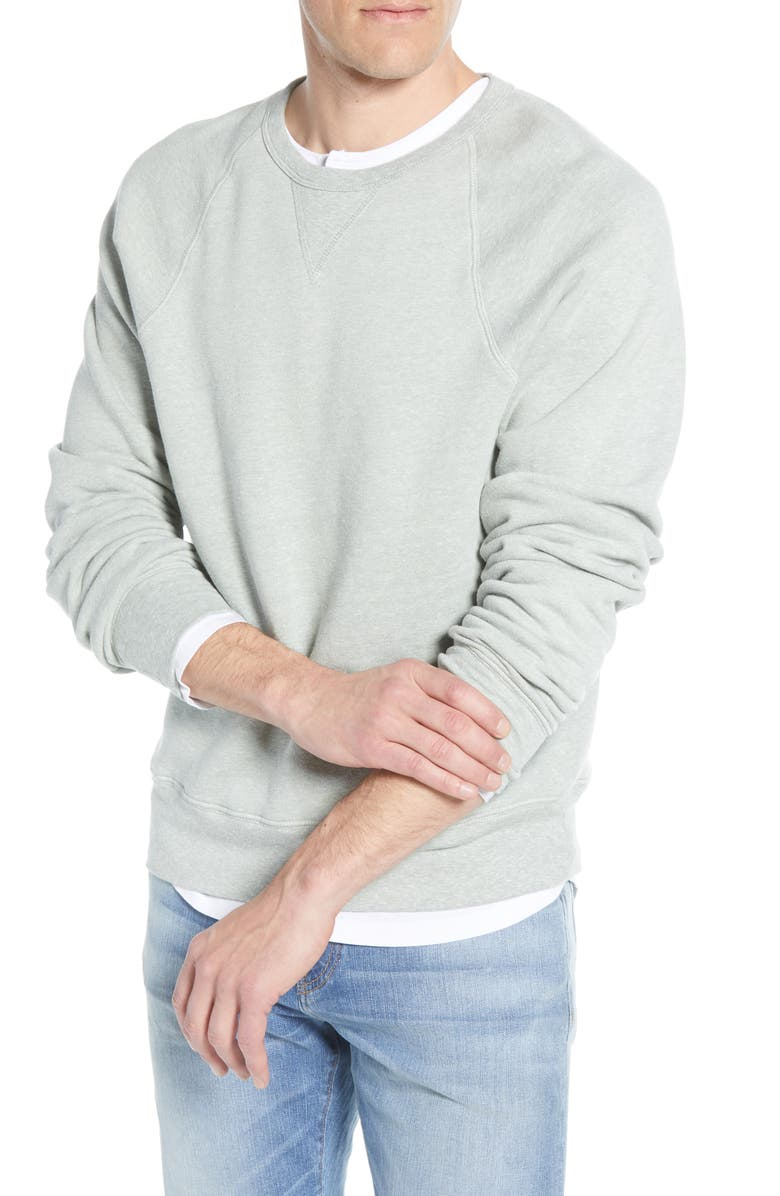 MADEWELL Crewneck Sweatshirt, Main, color, FROSTED WILLOW