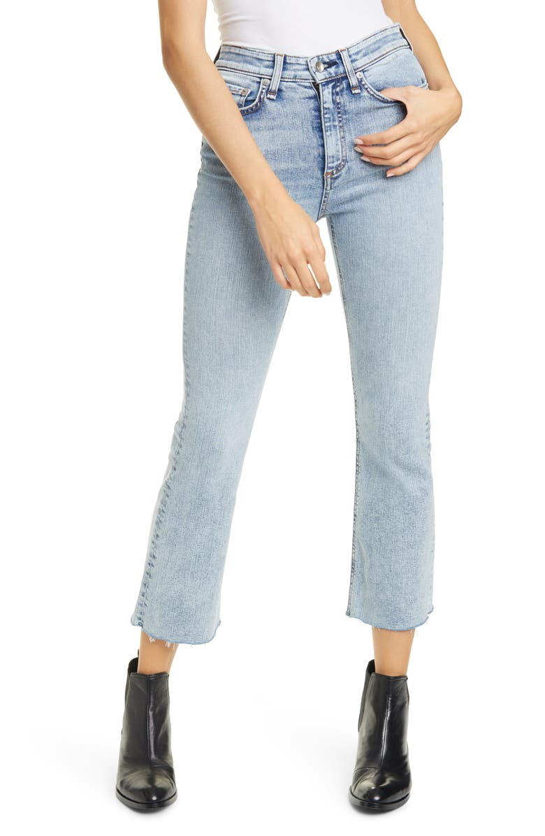RAG & BONE Nina High Waist Ankle Flare Jeans, Main, color, DAKOTA
