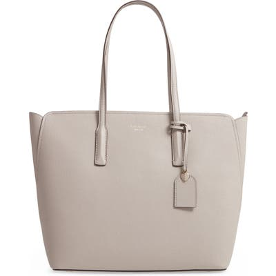 Kate Spade New York Large Margaux Leather Tote - Beige