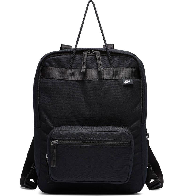 NIKE Tanjun Premium Canvas Backpack, Main, color, BLACK/ BLACK/ WHITE
