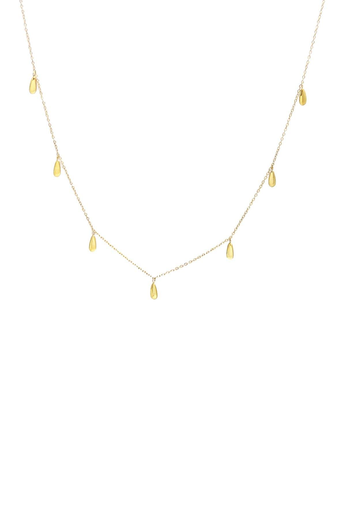 Image of Savvy Cie 18K Gold Plated Teardrop Choker Necklace