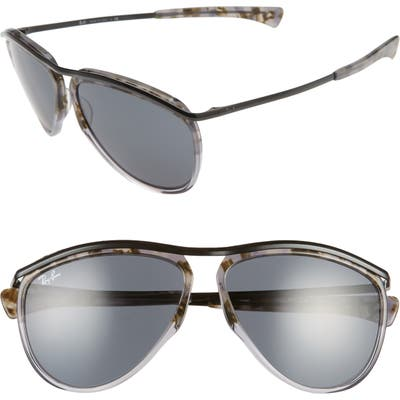 Ray-Ban 5m Gradient Aviator Sunglasses - Grey Havana