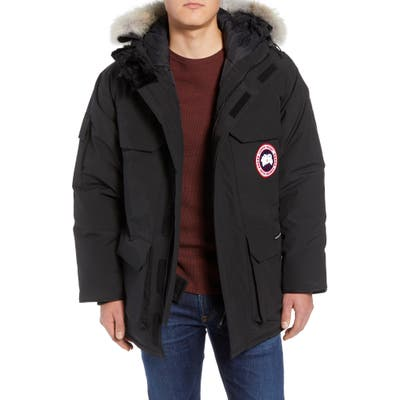 Canada Goose Expedition Down Parka With Genuine Coyote Fur Trim, Black
