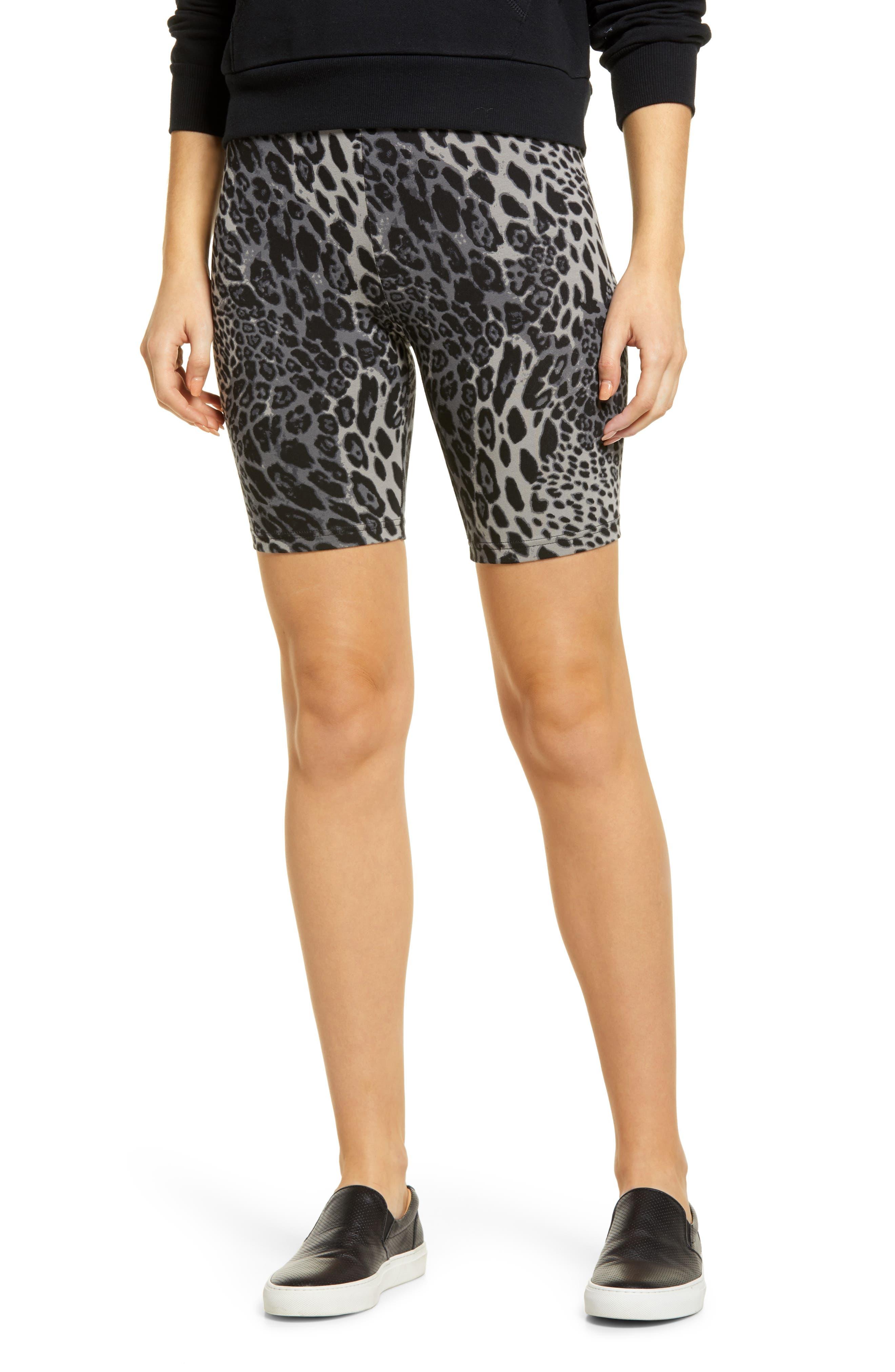 Animal Print Stretch Cotton Bike Shorts