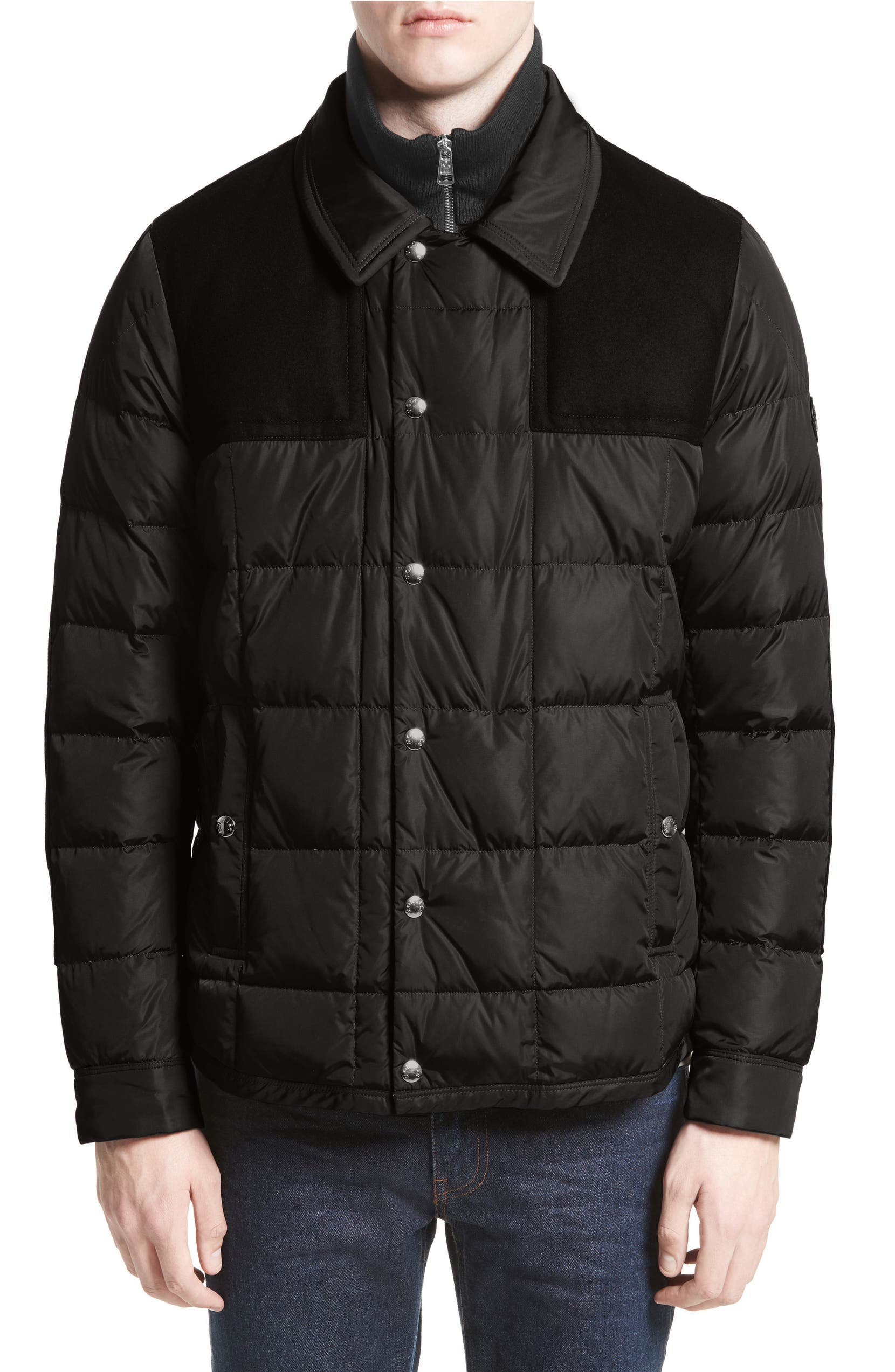 276f6120b Clovis Mixed Media Quilted Down Jacket