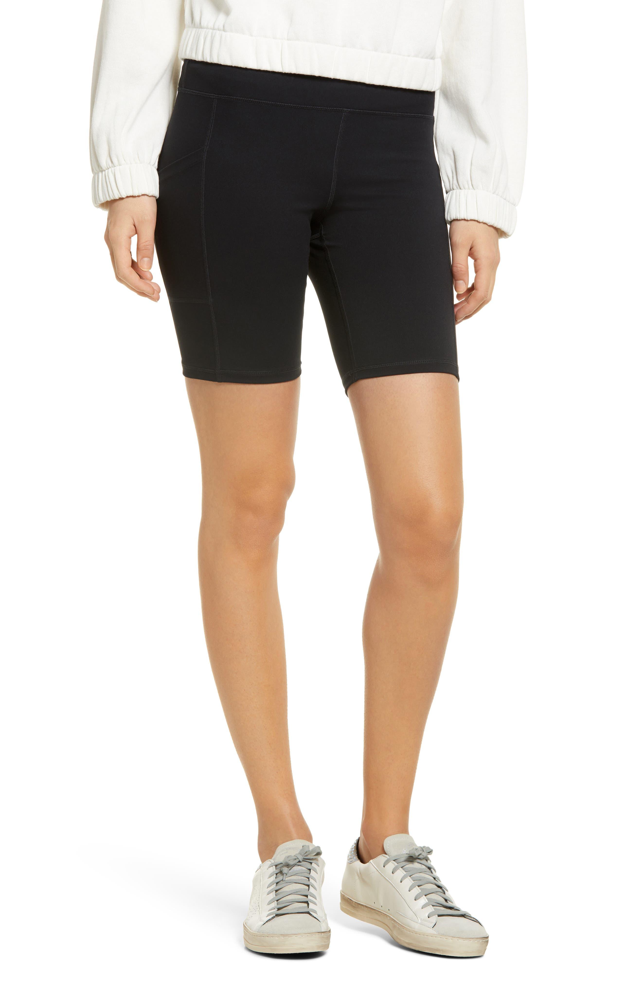 Women's Active Pep Talking Pocket Performance Bike Shorts