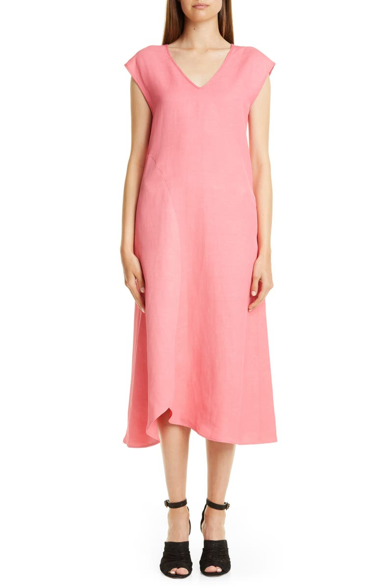 ZERO + MARIA CORNEJO Circle Swing Midi Dress, Main, color, PEONY