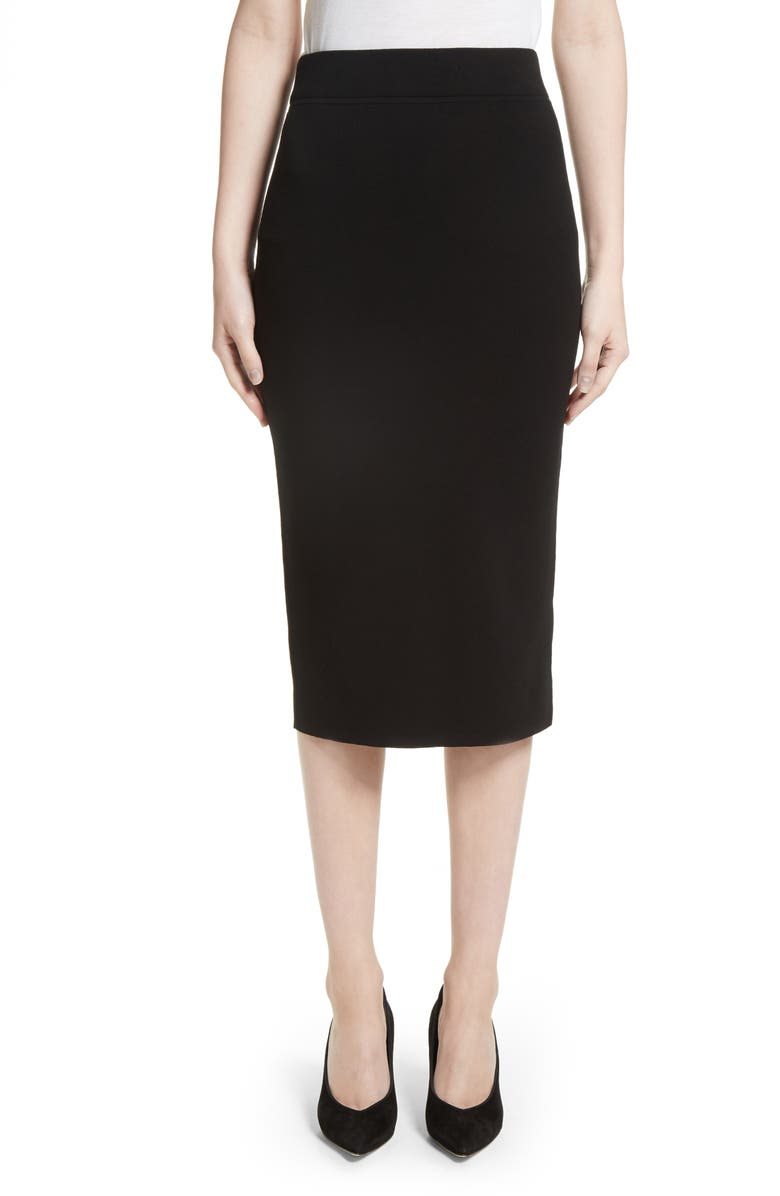 MICHAEL KORS Stretch Pencil Skirt, Main, color, 001