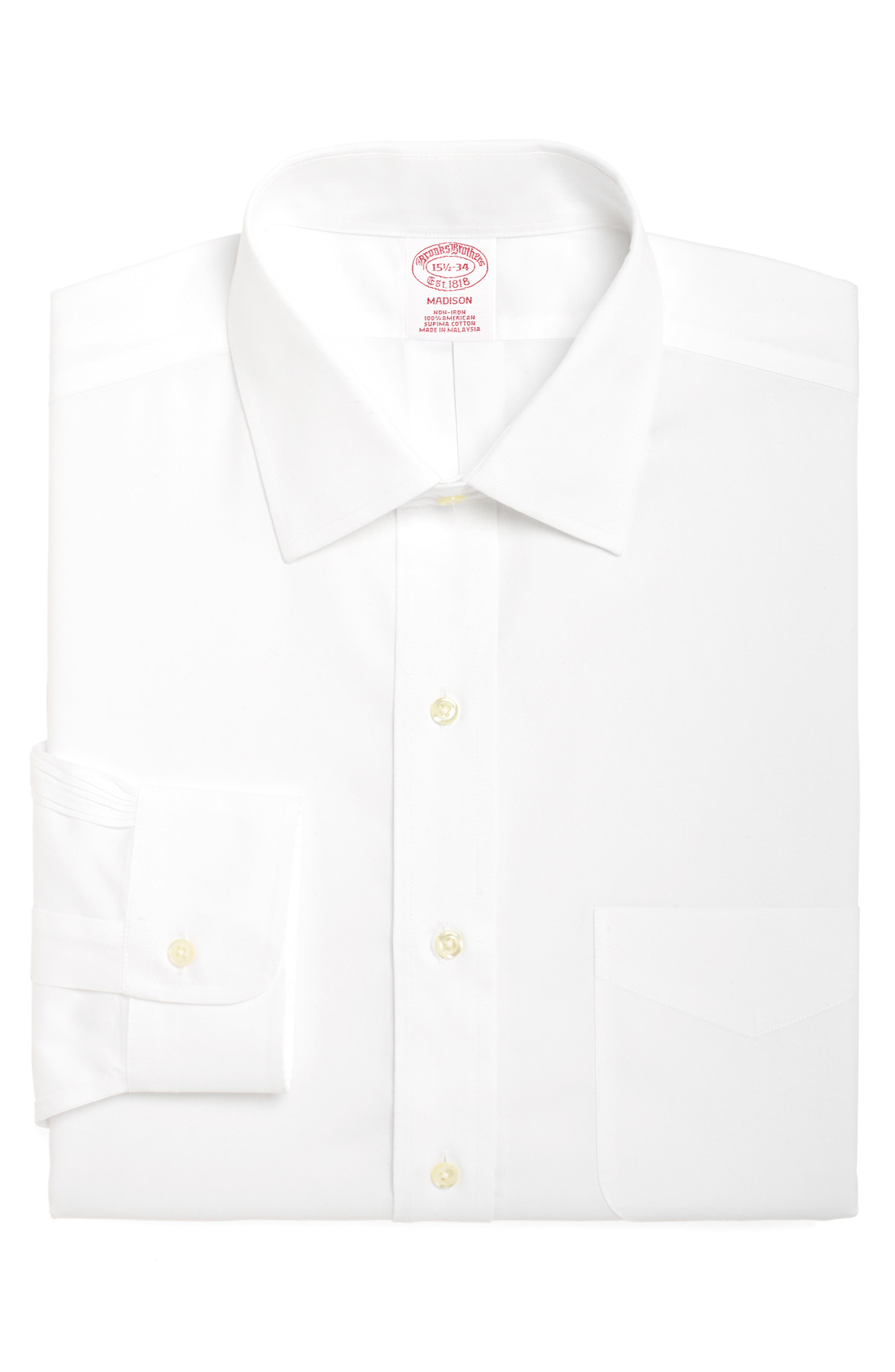 Brooks Brothers Madison Classic Fit Solid Dress Shirt (3 For $207)