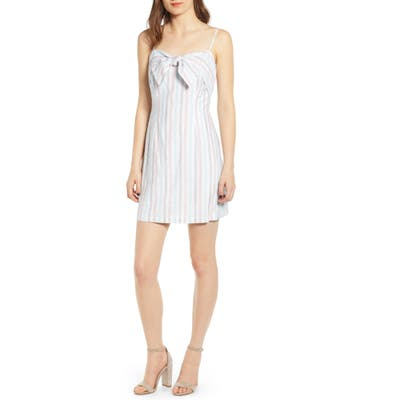 Cupcakes And Cashmere Soleil Stripe Slipdress, White