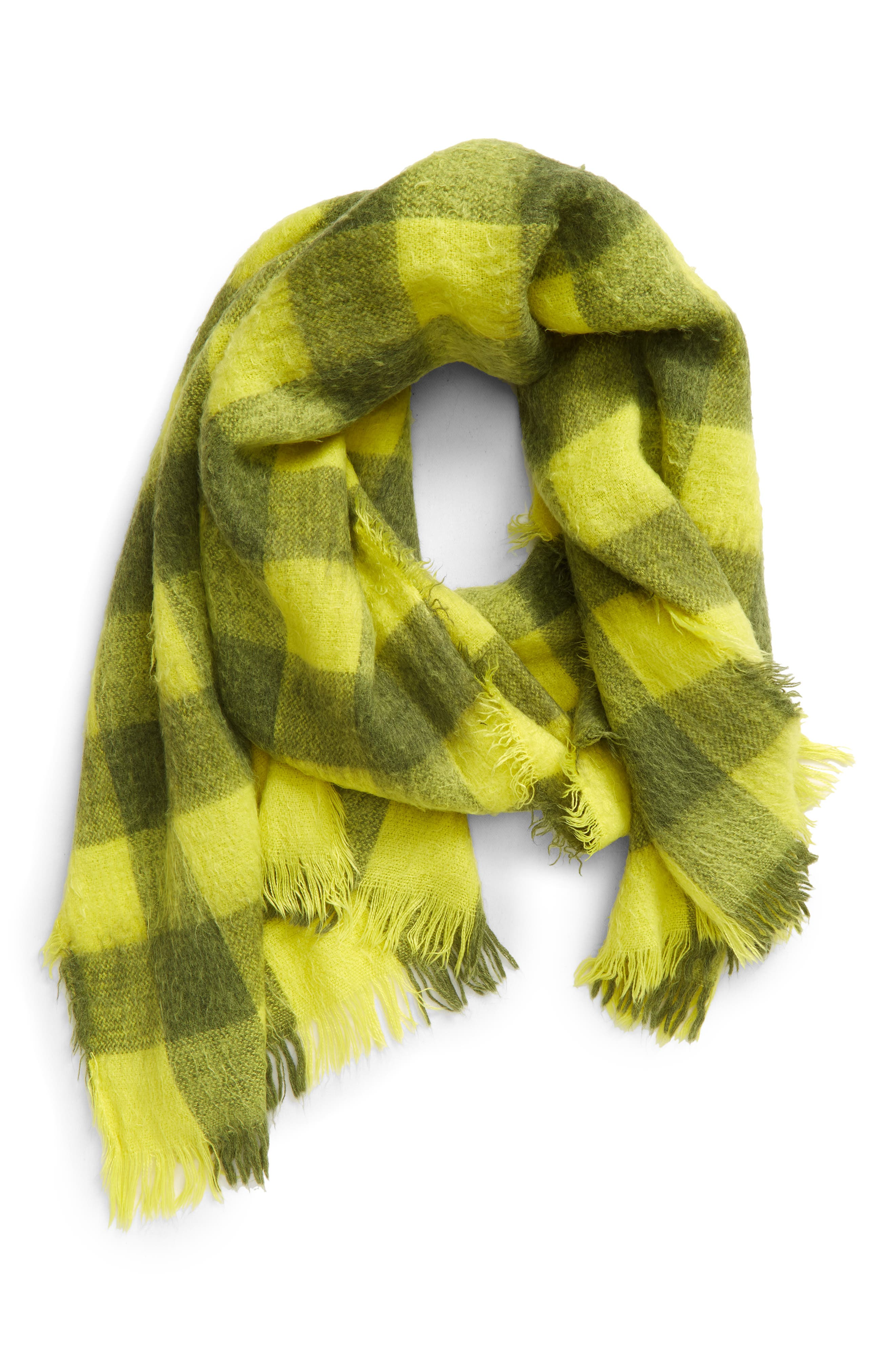 Warm your little one up in this cozy, chilly-day scarf finished with swingy fringe. Style Name: Tucker + Tate Kids\\\' Buffalo Plaid Scarf (Kid). Style Number: 6095714. Available in stores.