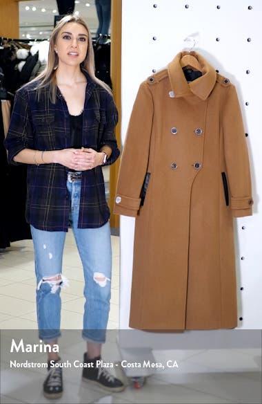 Elodie-R Double Breasted Wool Blend Coat, sales video thumbnail