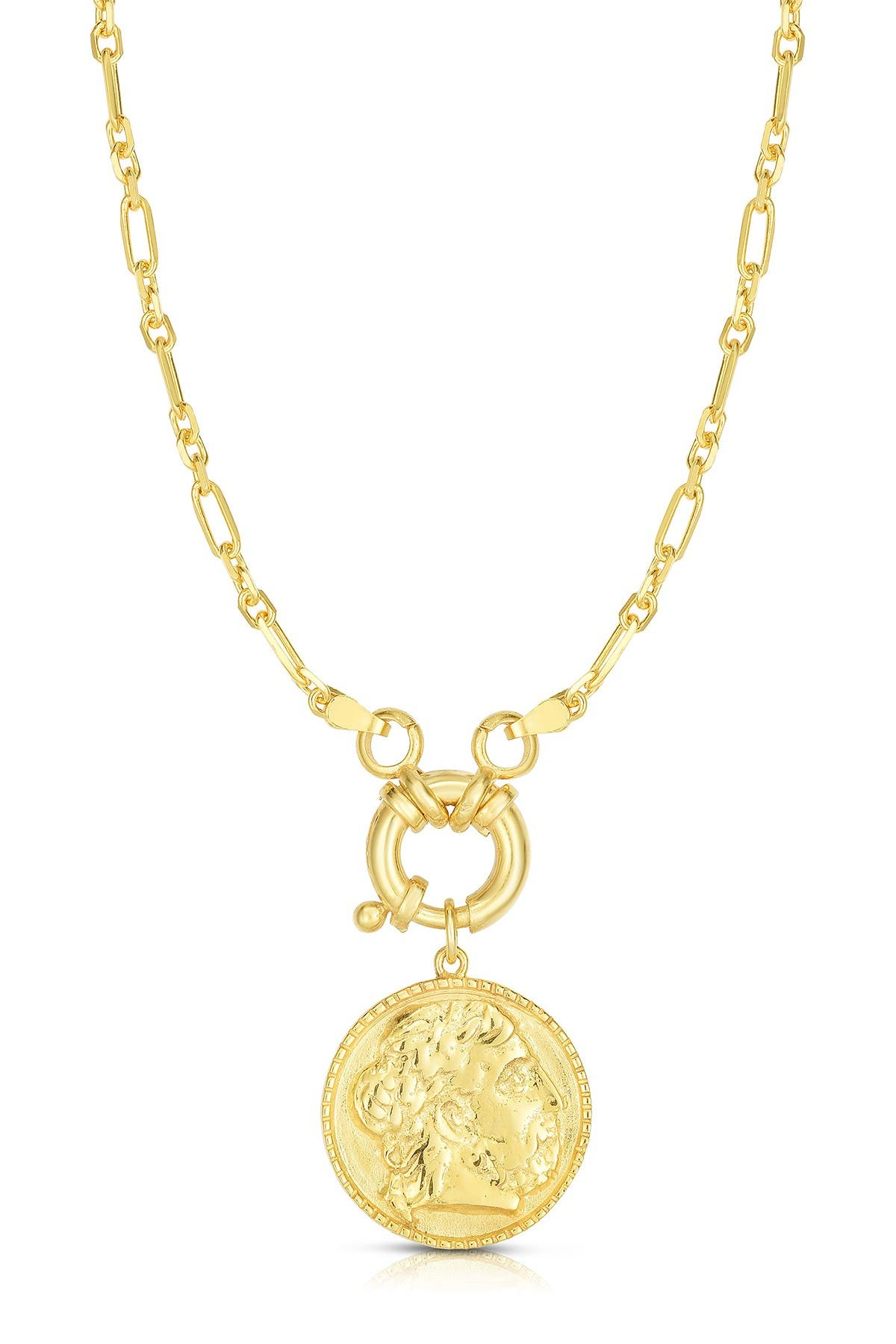Image of Sphera Milano 18K Gold Plated Sterling Silver Coin Pendant Necklace