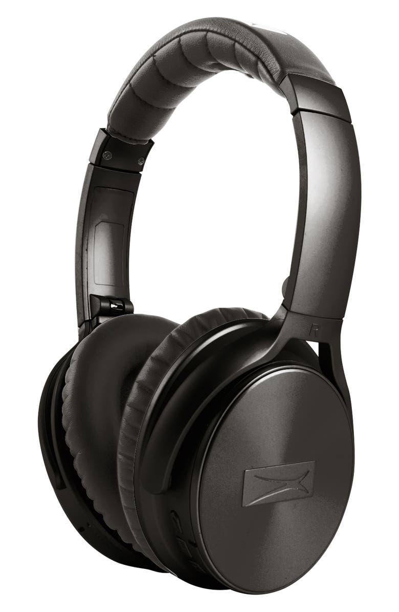 ALTEC LANSING Active Noise Cancelling Wireless Headphones, Main, color, BLACK