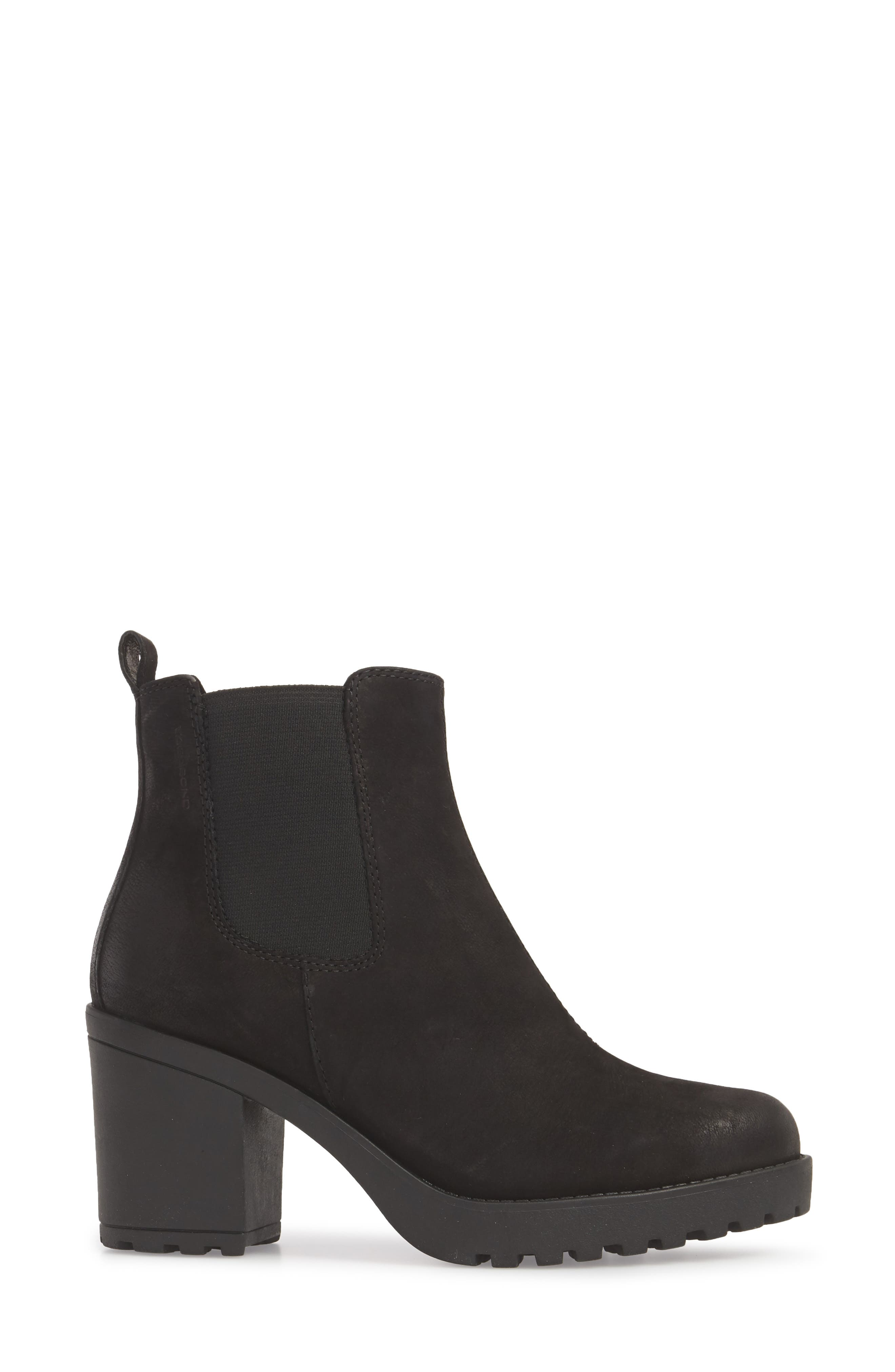 ,                             Grace Chelsea Bootie,                             Alternate thumbnail 3, color,                             BLACK NUBUCK
