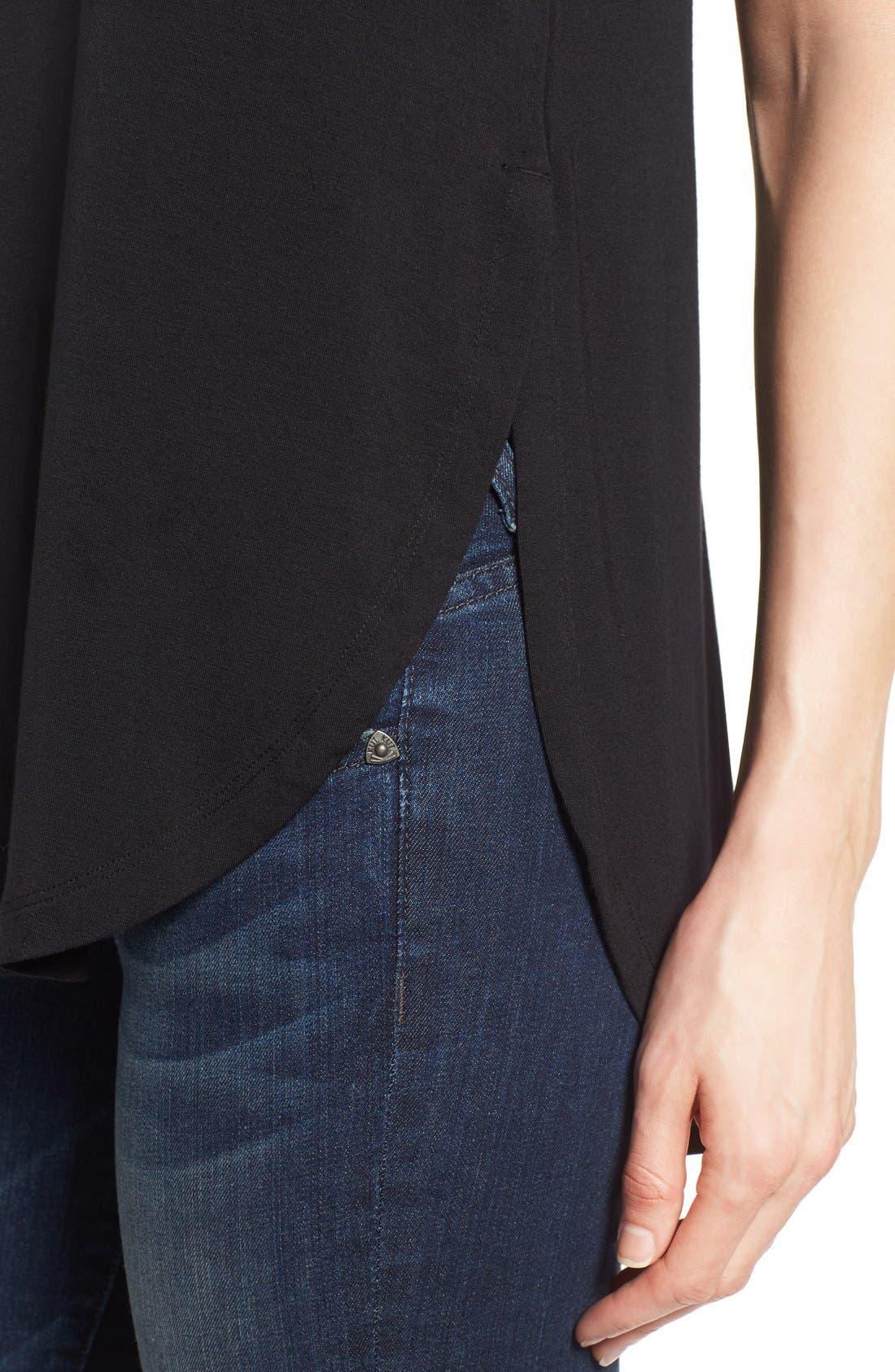 ,                             Short Sleeve Shirttail Tee,                             Alternate thumbnail 7, color,                             BLACK