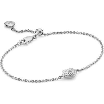 Monica Vinader Nura Mini Diamond Heart Bracelet