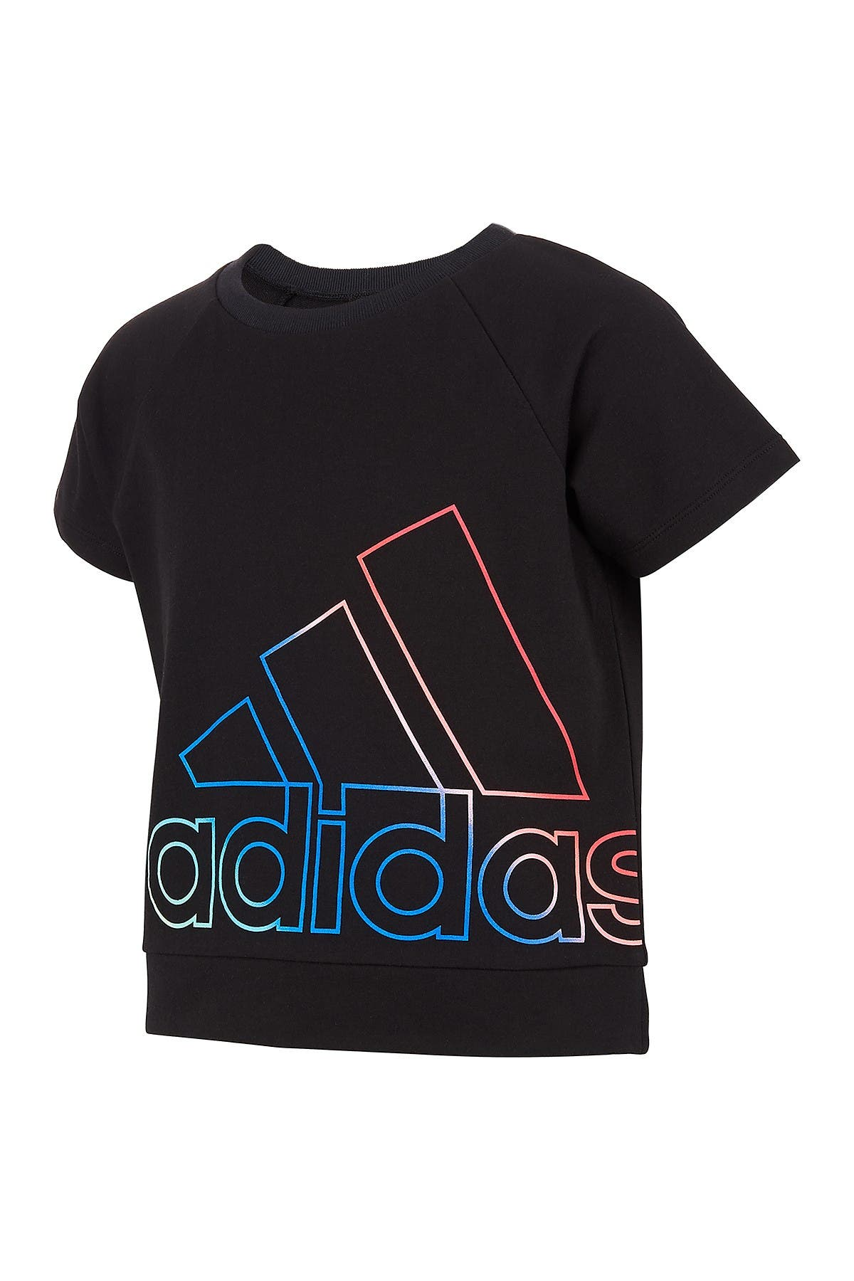 Image of adidas Logo Short Sleeve French Terry Pullover