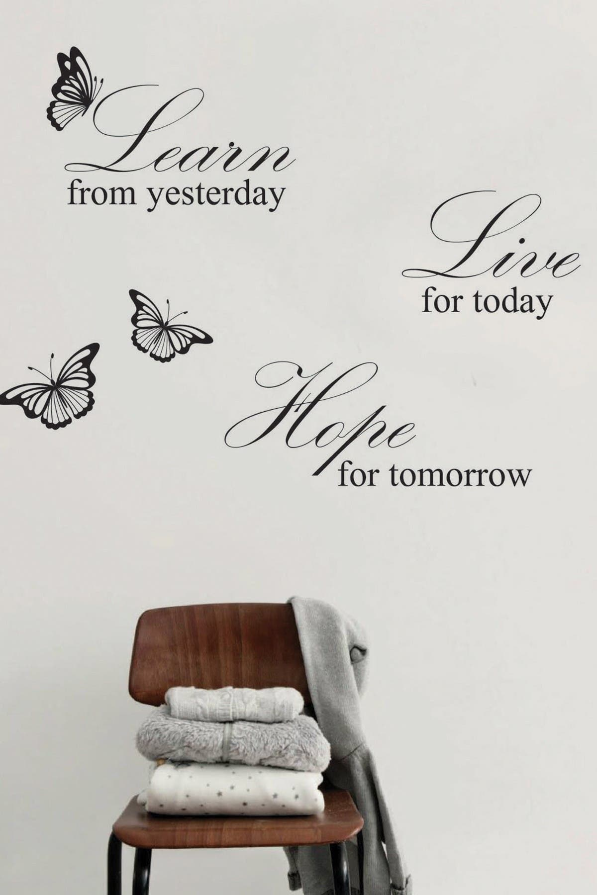 Image of WalPlus Black Live Learn Hope Quote Decal
