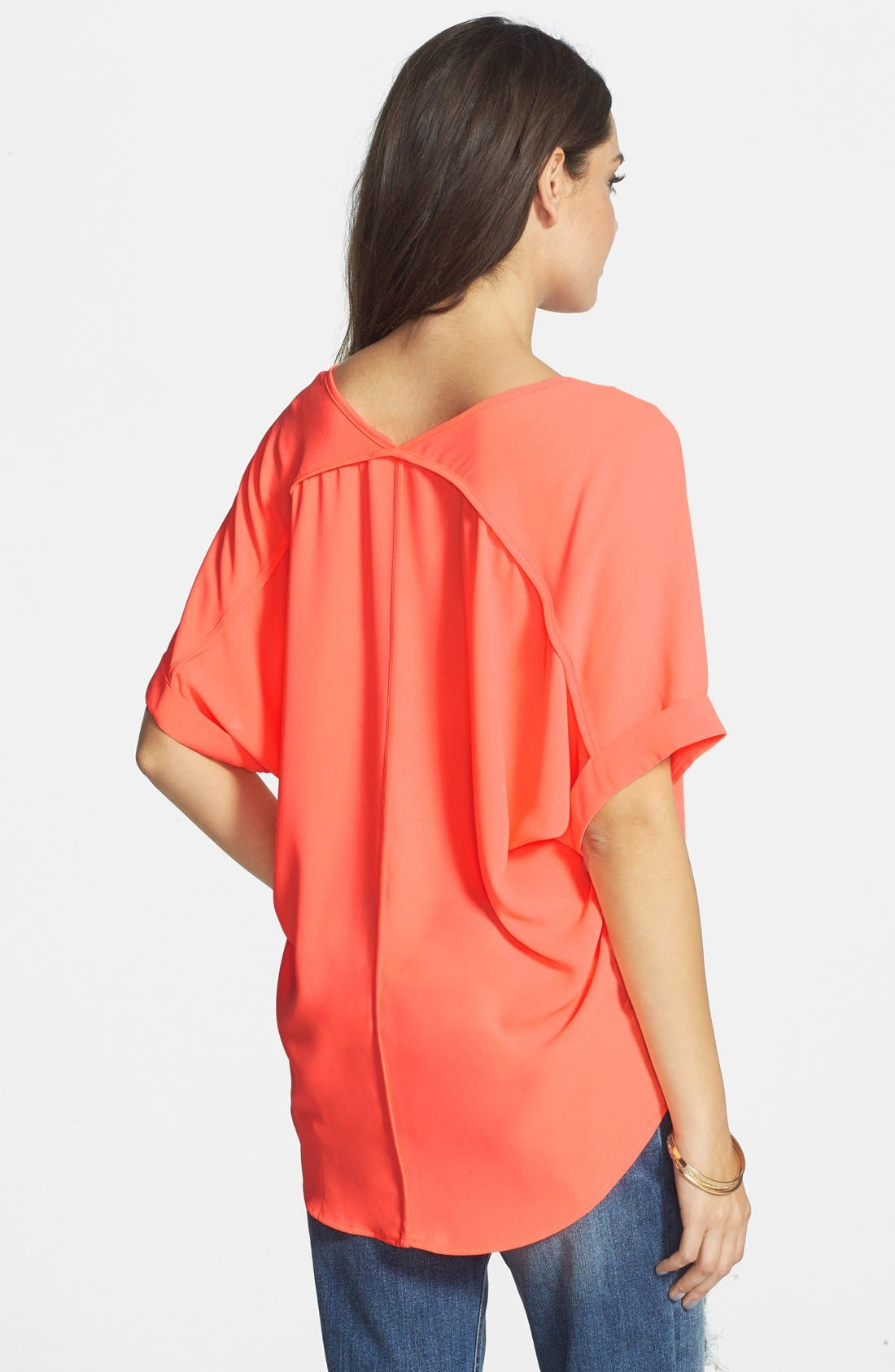 ,                             Lush Cuff Sleeve Woven Tee,                             Alternate thumbnail 210, color,                             951