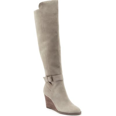Sole Society Paloma Knee High Boot- Grey