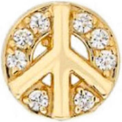 Mini Mini Jewels Diamond Icon Peace Sign Earring