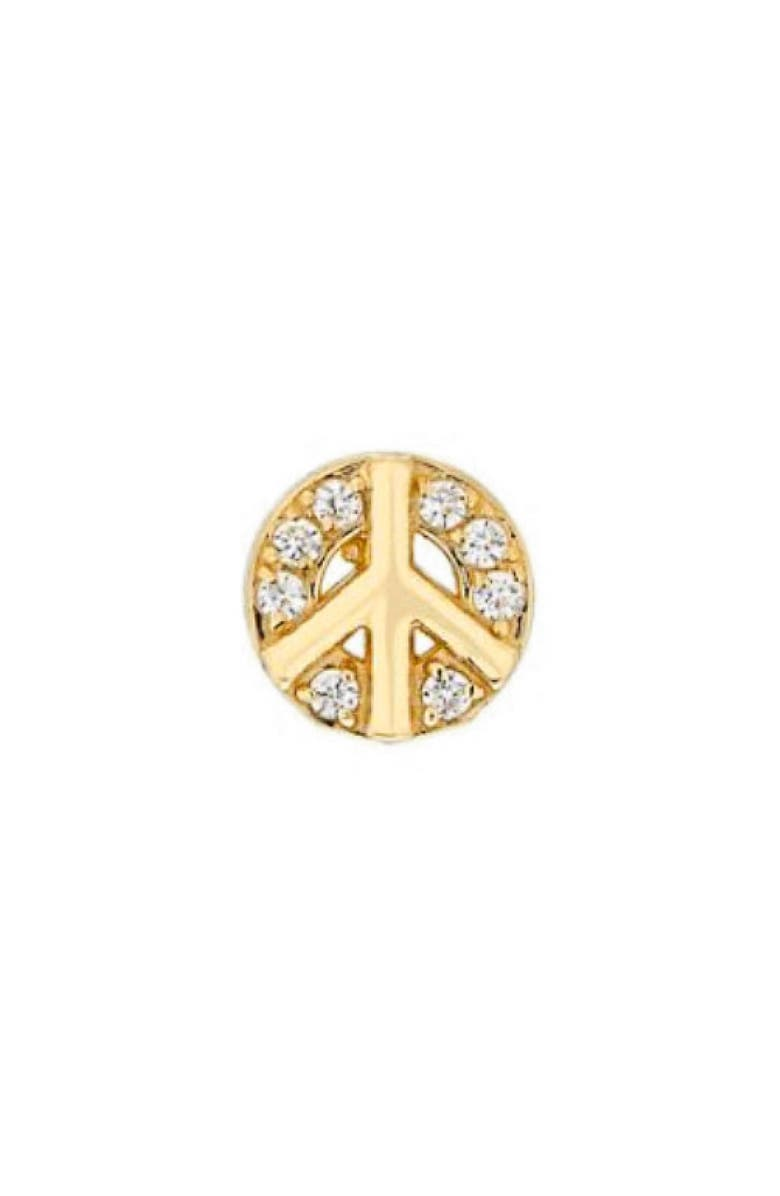 MINI MINI JEWELS Diamond Icon Peace Sign Earring, Main, color, YELLOW GOLD