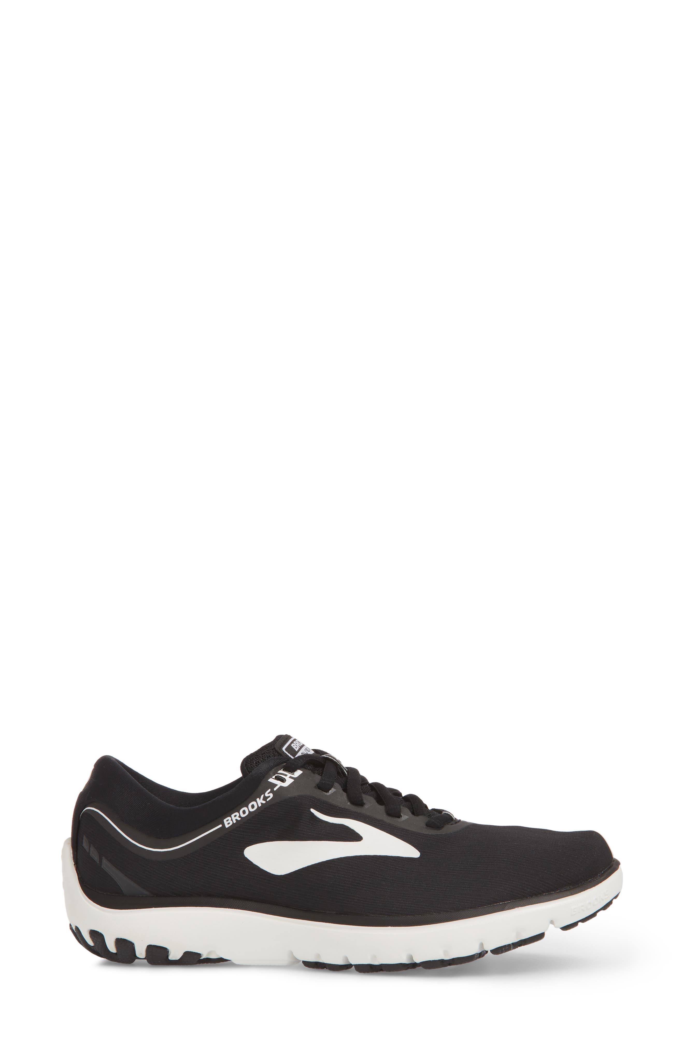 ,                             PureFlow 7 Running Shoe,                             Alternate thumbnail 3, color,                             BLACK/ WHITE