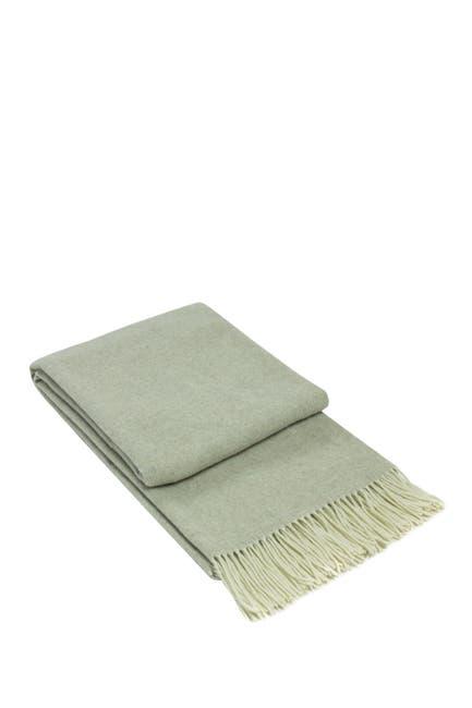 Image of Melange Home Italian Wool Blend Throw - Beige