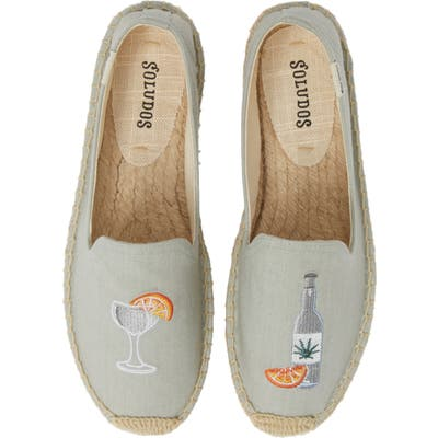 Soludos Agave Embroidered Espadrille, Blue