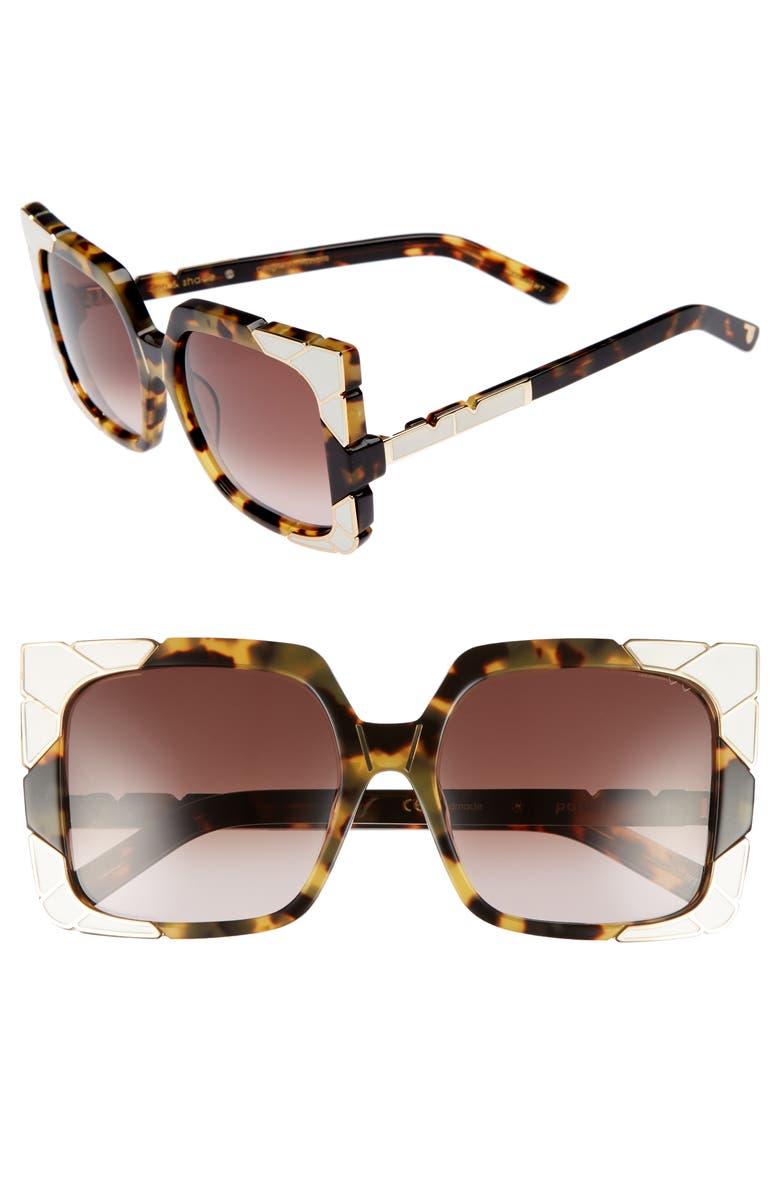 PARED Sun & Shade 55mm Square Retro Sunglasses, Main, color, 201