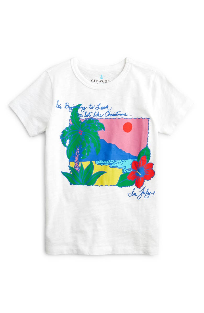 CREWCUTS BY J.CREW Christmas in July Graphic T-Shirt, Main, color, CHRISTMAS IN JULY
