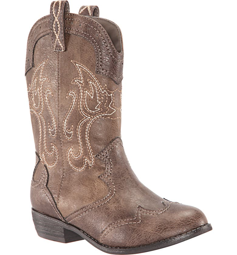 NINA Beti Western Boot, Main, color, BROWN DISTRESSED