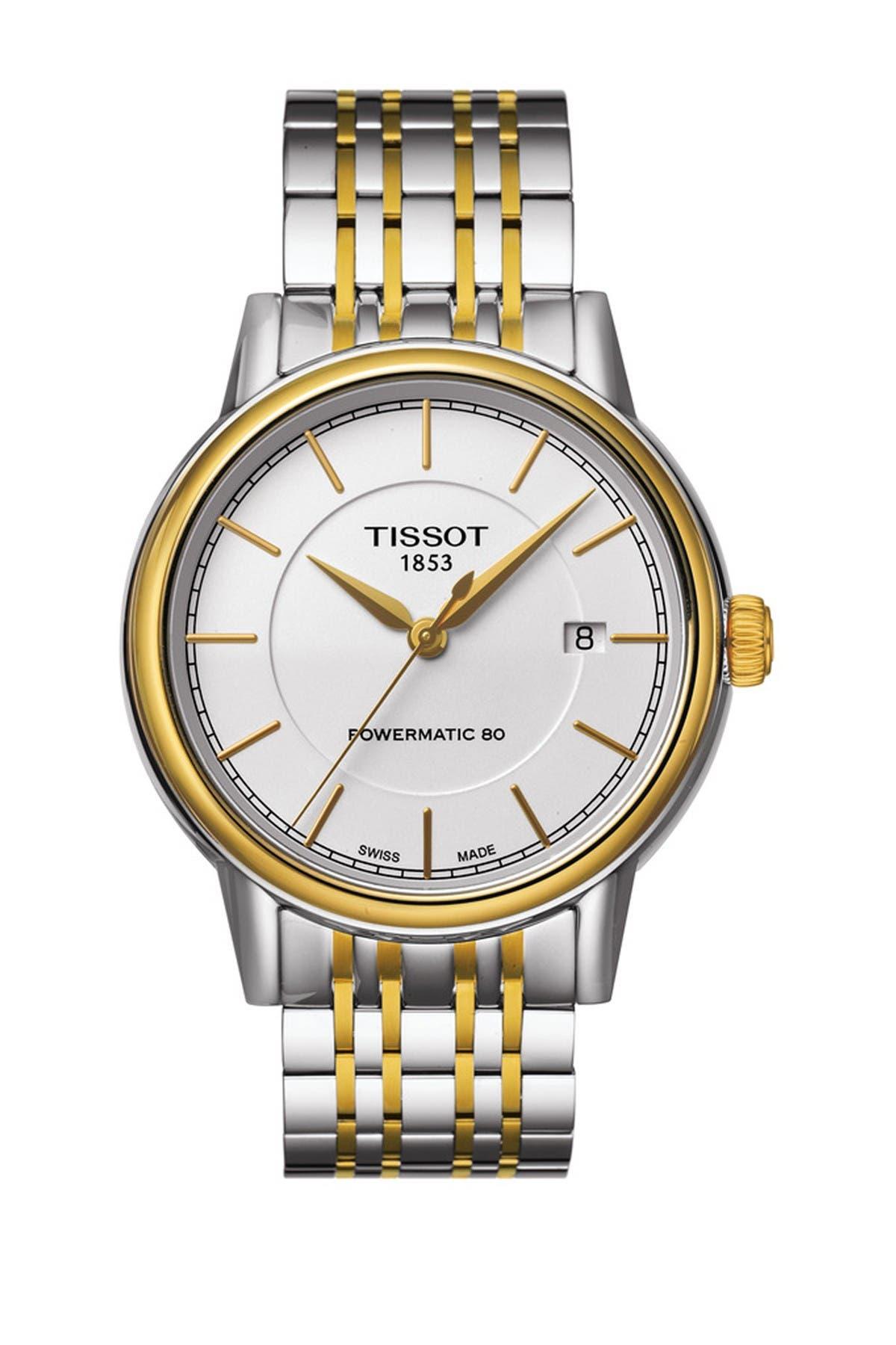 Image of Tissot Men's Carson Powermatic 80 Swiss Stainless Steel Watch, 39mm