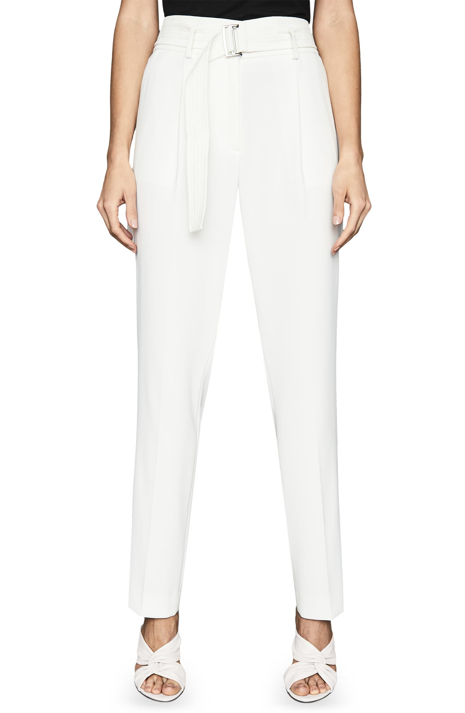 Mia Belted Trousers REISS