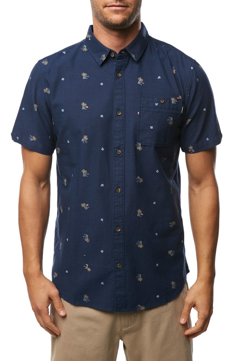 O'NEILL Frequency Print Shirt, Main, color, 410