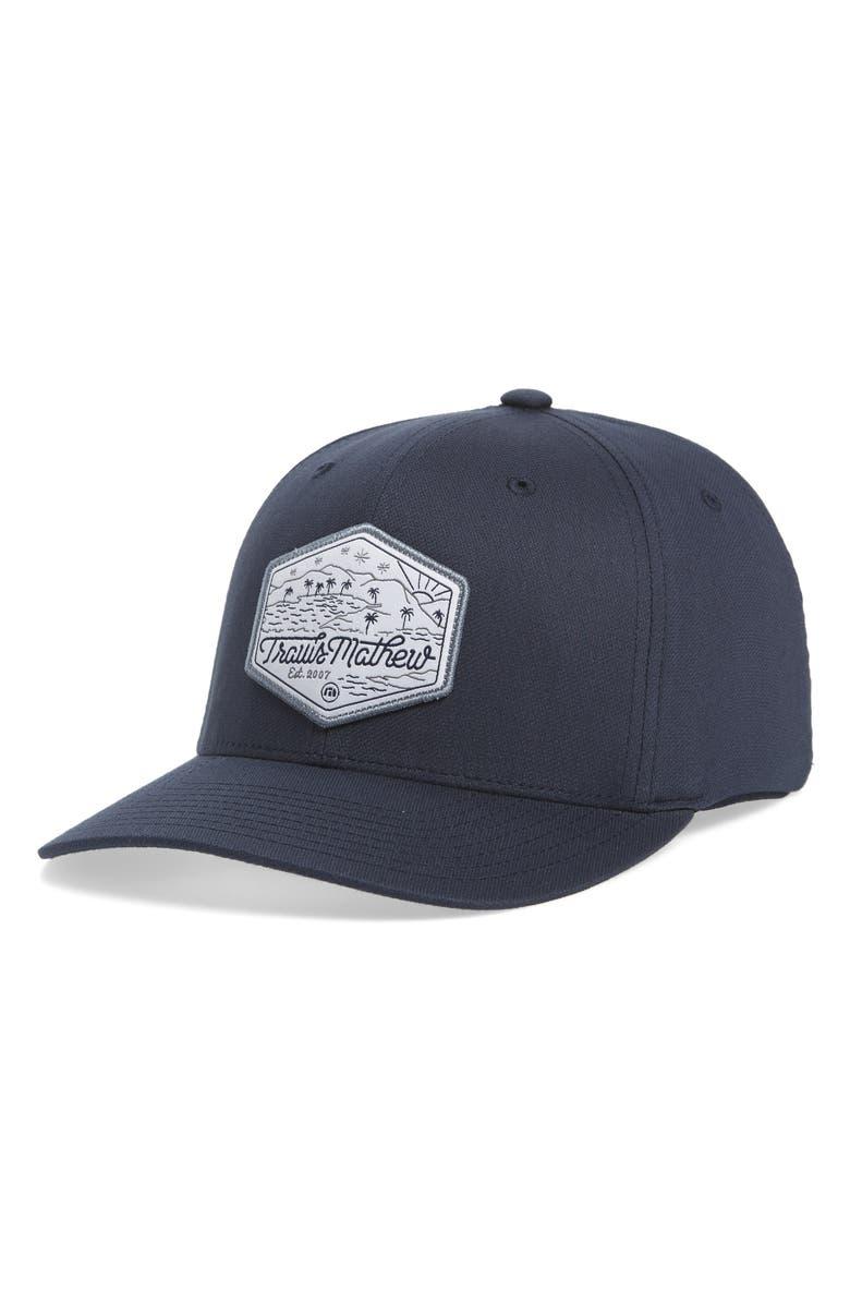 TRAVISMATHEW Irregular Baseball Cap, Main, color, MOOD INDIGO