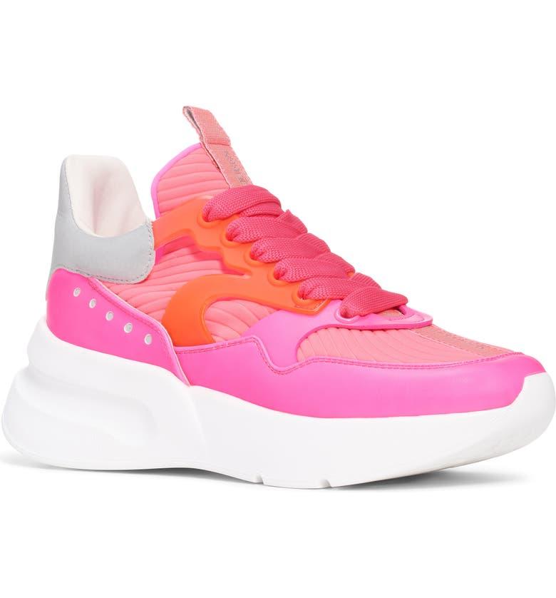 ALEXANDER MCQUEEN Platform Sneaker, Main, color, ELECTRIC PINK/ SILVER