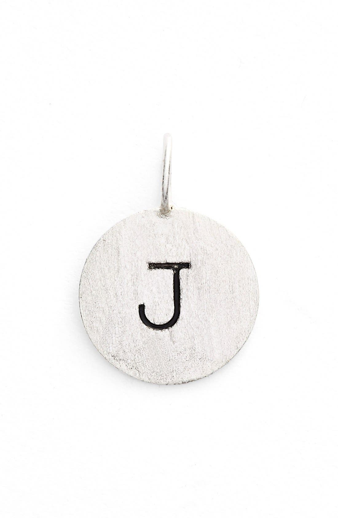 Image of Argento Vivo Sterling Silver 'J' Initial Disc Charm