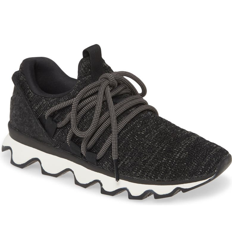 SOREL Kinetic Lace Knit Sneaker, Main, color, BLACK