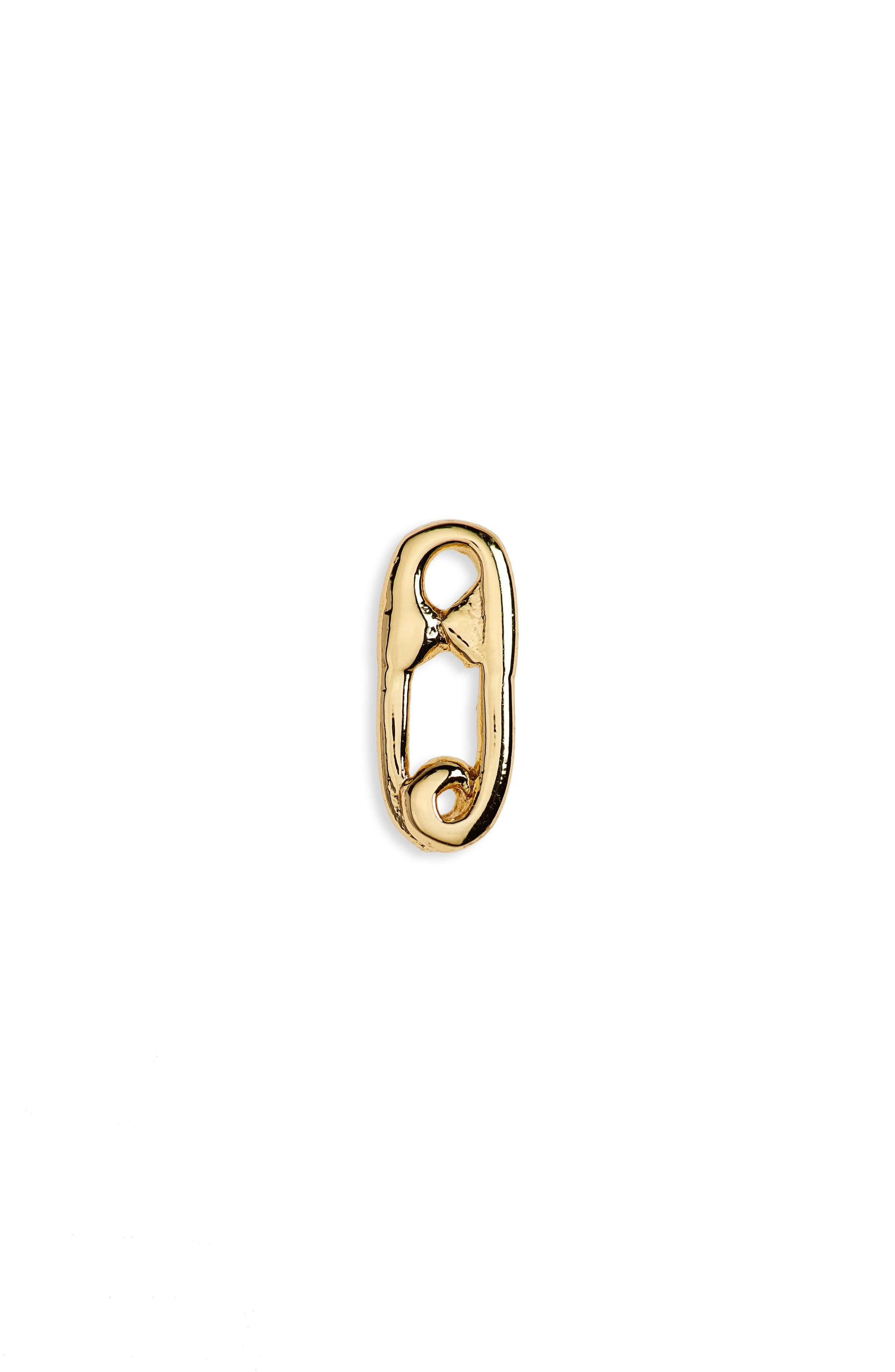 Safety Pin Single Stud Earring