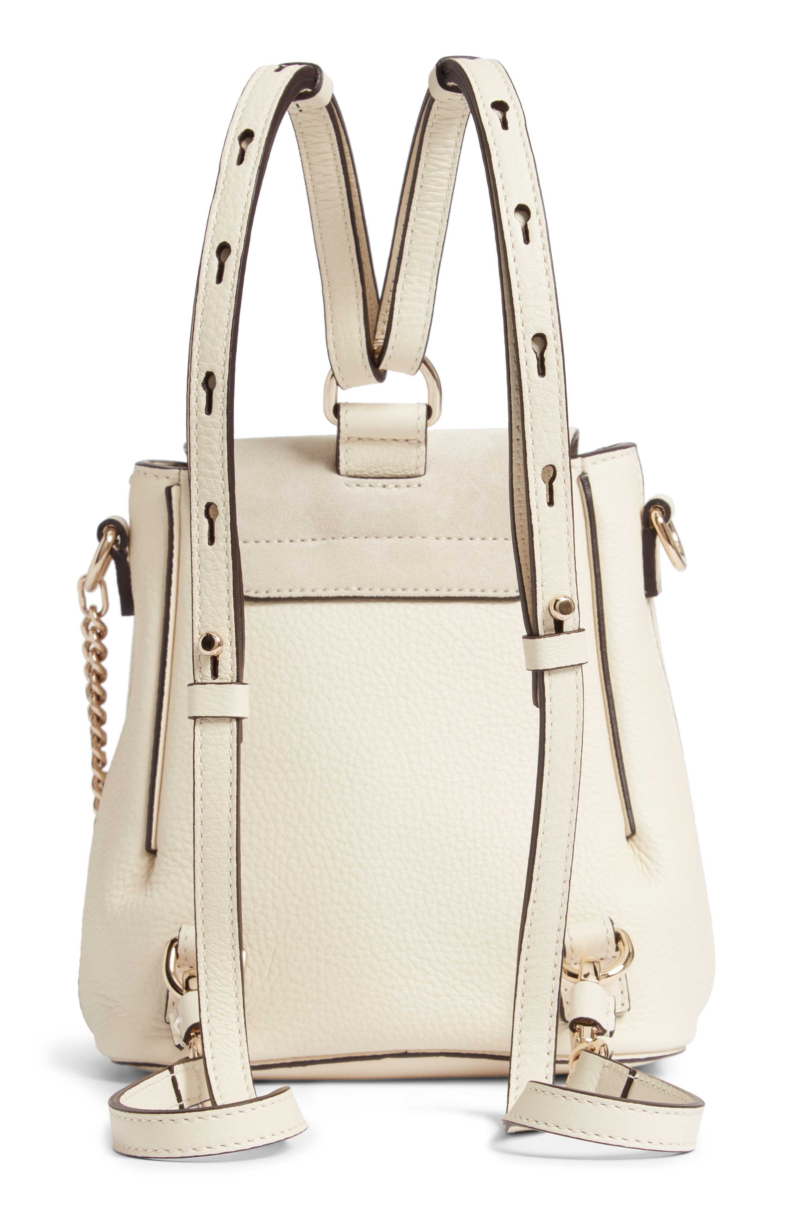 ,                             Mini Faye Leather & Suede Backpack,                             Alternate thumbnail 10, color,                             902