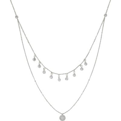 Ettika Pave Disc Layered Necklace