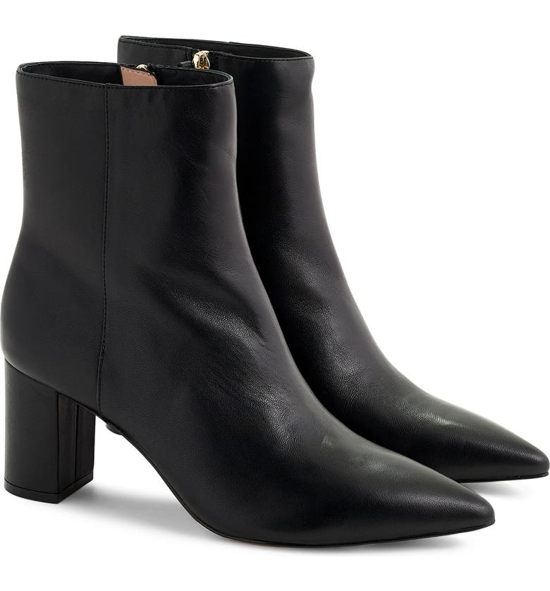 J.CREW Sadie Pointed Toe Boot, Main, color, BLACK LEATHER