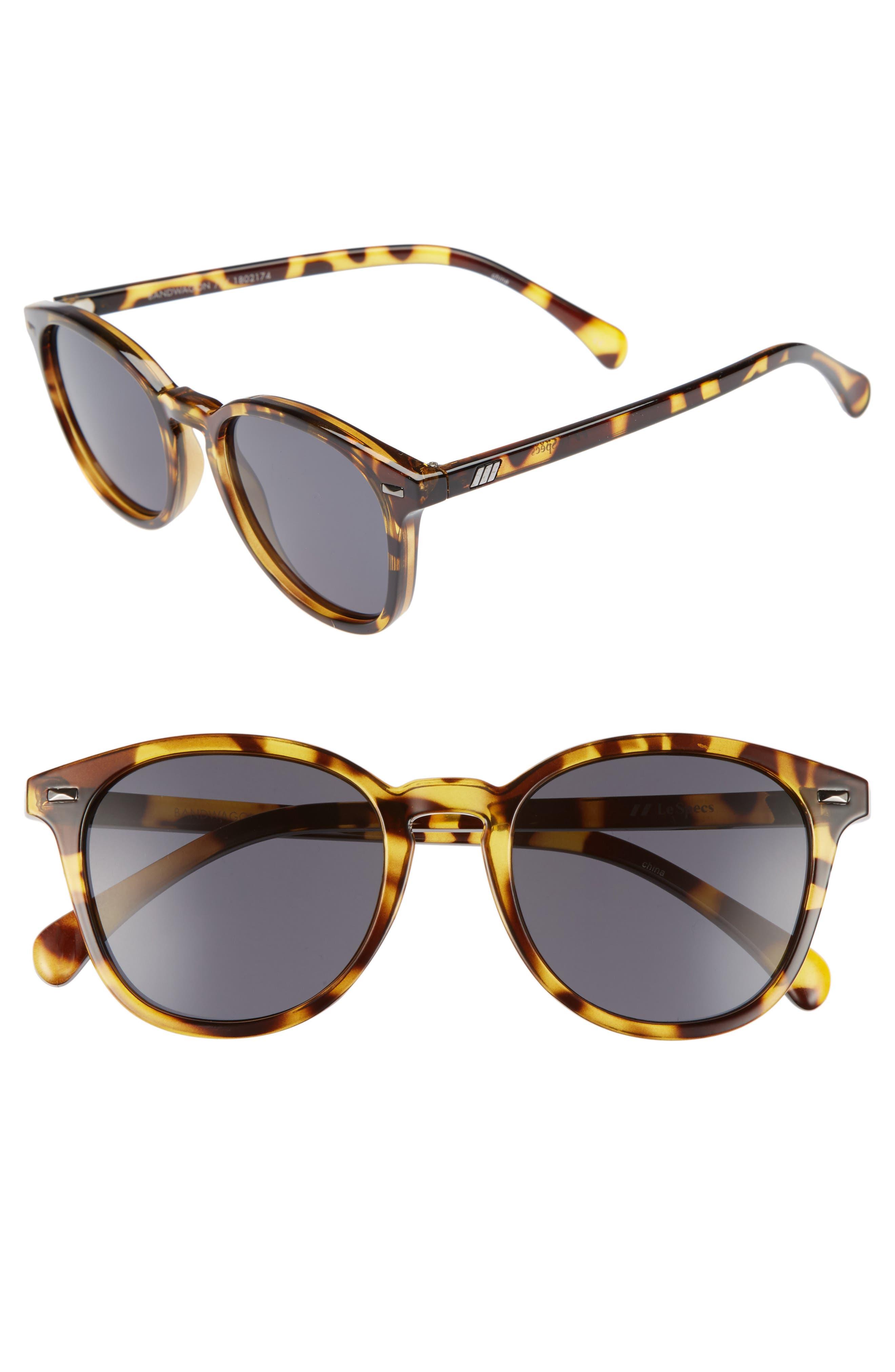 Le Specs Bandwagon 50Mm Sunglasses - Syrup Tortoise